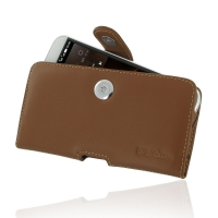 Huawei G7 Plus Leather Holster Case (Brown) PDair Premium Hadmade Genuine Leather Protective Case Sleeve Wallet