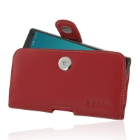 Leather Horizontal Pouch Case with Belt Clip for LG G4 H815 (Red)