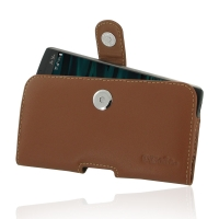Leather Horizontal Pouch Case with Belt Clip for LG V10 (Brown)