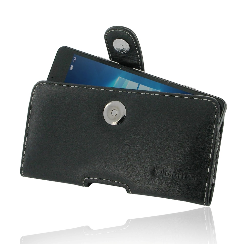 cheap for discount 01480 779d9 Leather Horizontal Pouch Case with Belt Clip for Microsoft Lumia 950