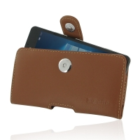 Leather Horizontal Pouch Case with Belt Clip for Microsoft Lumia 950 (Brown)