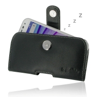Leather Horizontal Pouch Case with Belt Clip for Motorola Moto G (Gen 3)