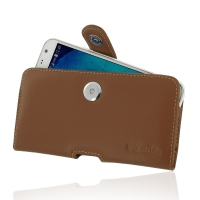 Leather Horizontal Pouch Case with Belt Clip for Samsung Galaxy J7 SM-J700F (Brown)