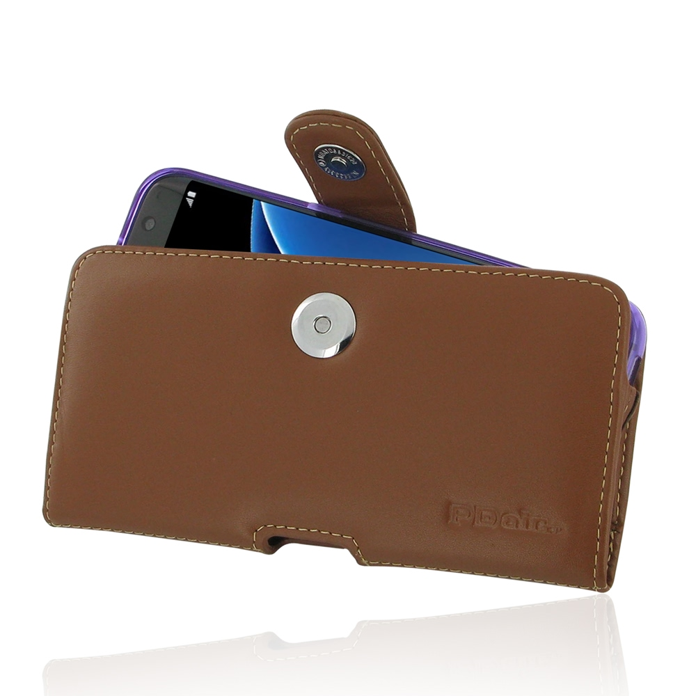 pdair horizontal leather samsung galaxy s7 edge case with belt clip