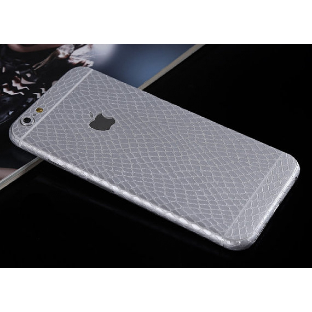 10% OFF + FREE SHIPPING, Buy PDair Leather Snake Pattern iPhone Decal Wrap Skin Set Silver which is available for iPhone 6 6s, iPhone 6 6s Plus, iPhone 5 5s SE You also can go to the customizer to create your own stylish leather case if looking for additi