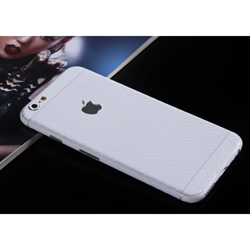 10% OFF + FREE SHIPPING, Buy PDair Leather Snake Pattern iPhone Decal Wrap Skin Set (White) which is available for iPhone 6 6s, iPhone 6 6s Plus, iPhone 5 5s SE You also can go to the customizer to create your own stylish leather case if looking for addit