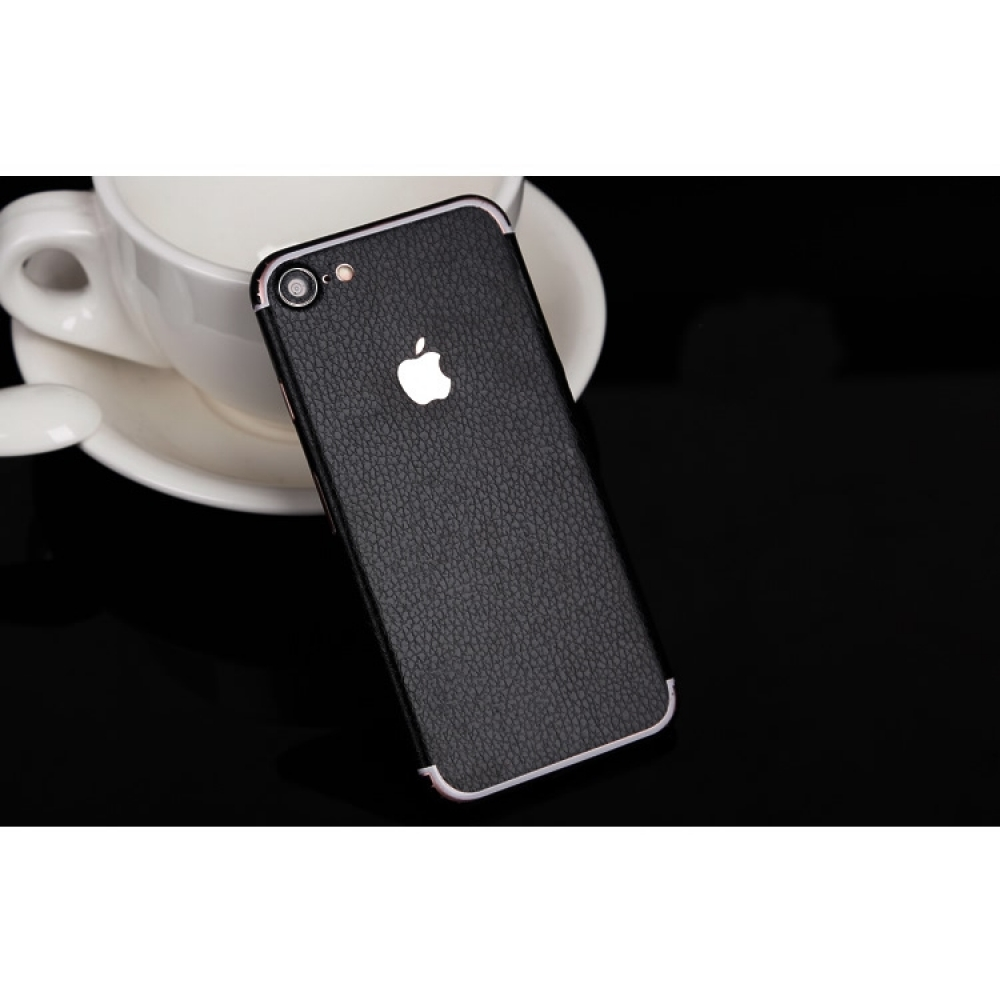10% OFF + FREE SHIPPING, Buy Best PDair Quality Genuine Leather Texture iPhone Decal Wrap Skin Set (Black) which is available for iPhone 7, iPhone 7 plus. You also can go to the customizer to create your own stylish leather case if looking for additional