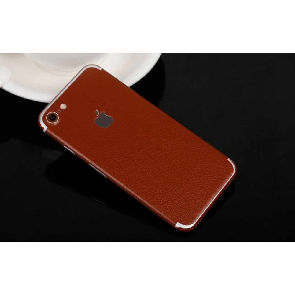 10% OFF + FREE SHIPPING, Buy Best PDair Quality Genuine Leather Texture iPhone Decal Wrap Skin Set (Brown) which is available for iPhone 7, iPhone 7 plus. You also can go to the customizer to create your own stylish leather case if looking for additional