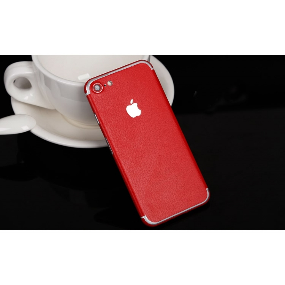 10% OFF + FREE SHIPPING, Buy Best PDair Top Quality Genuine Leather Texture iPhone Decal Wrap Skin Set (Red) which is available for iPhone 7, iPhone 7 plus. You also can go to the customizer to create your own stylish leather case if looking for additiona