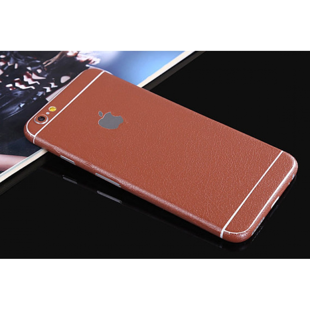 10% OFF + FREE SHIPPING, Buy PDair Leather Texture iPhone Decal Wrap Skin Set (Brown) which is available for iPhone 6 6s, iPhone 6 6s Plus, iPhone 5 5s SE. You also can go to the customizer to create your own stylish leather case if looking for additional