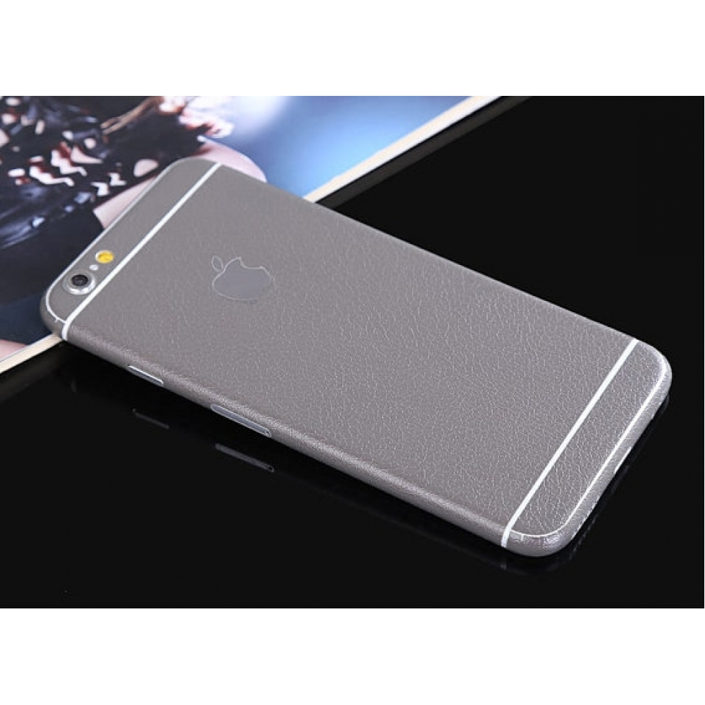 10% OFF + FREE SHIPPING, Buy PDair Leather Texture iPhone Decal Wrap Skin Set Grey which is available for iPhone 5 5s, iPhone 6 6s, iPhone 6 6s Plus, iPhone SE. You also can go to the customizer to create your own stylish leather case if looking for addit