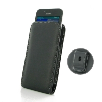 Huawei Ascend Y560 Pouch Case with Belt Clip PDair Premium Hadmade Genuine Leather Protective Case Sleeve Wallet