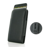 Nexus 6P Pouch Case with Belt Clip PDair Premium Hadmade Genuine Leather Protective Case Sleeve Wallet