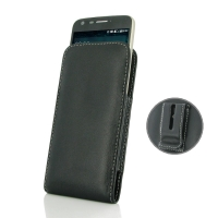 Leather Vertical Pouch Belt Clip Case for LG G5