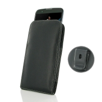 Leather Vertical Pouch Belt Clip Case for LG K10
