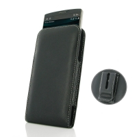 Leather Vertical Pouch Belt Clip Case for LG V10