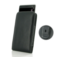 LG Zero Pouch Case with Belt Clip PDair Premium Hadmade Genuine Leather Protective Case Sleeve Wallet