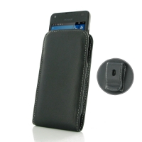 Microsoft Lumia 550 Pouch Case with Belt Clip PDair Premium Hadmade Genuine Leather Protective Case Sleeve Wallet