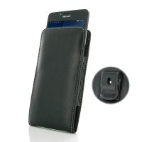 Leather Vertical Pouch Belt Clip Case for Microsoft Lumia 950