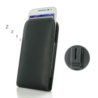 Leather Vertical Pouch Belt Clip Case for Motorola Moto G (Gen 3)