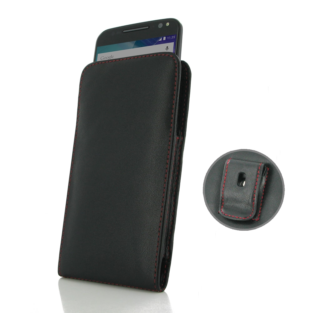 10% OFF + FREE SHIPPING, Buy PDair Quality Handmade Protective Moto X Style / Pure Edition Pouch Case with Belt Clip (Red Stitch) online. You also can go to the customizer to create your own stylish leather case if looking for additional colors, patterns