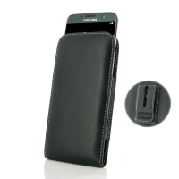 Leather Vertical Pouch Belt Clip Case for Samsung Galaxy S7 edge