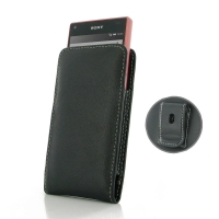 Leather Vertical Pouch Belt Clip Case for Sony Xperia Z5 Compact