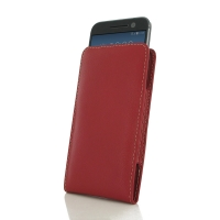HTC 10 Leather Sleeve Pouch Case (Red) PDair Premium Hadmade Genuine Leather Protective Case Sleeve Wallet