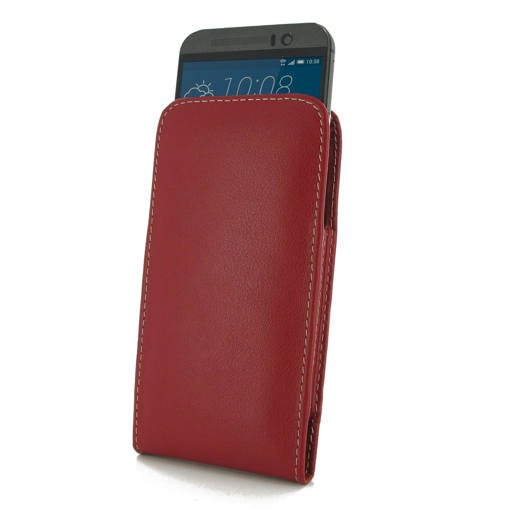 htc one m9 red. htc one m9 leather sleeve pouch case (red) pdair premium hadmade genuine protective htc red