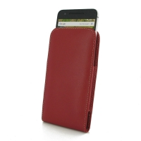 Nexus 6P Leather Sleeve Pouch Case (Red) PDair Premium Hadmade Genuine Leather Protective Case Sleeve Wallet
