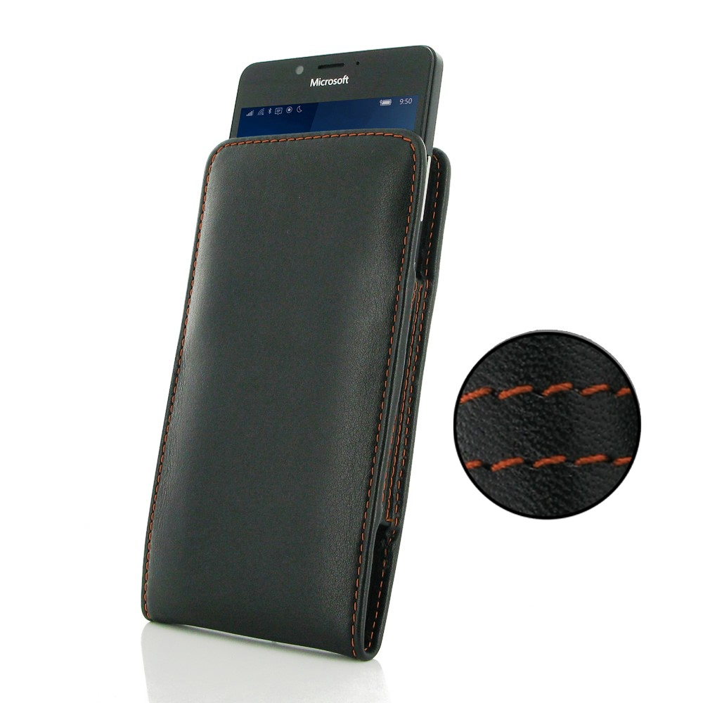 10% OFF + FREE SHIPPING, Buy Best PDair Quality Handmade Protective Microsoft Lumia 950 Leather Sleeve Pouch Case (Orange Stitch). Pouch Sleeve Holster Wallet You also can go to the customizer to create your own stylish leather case if looking for additio