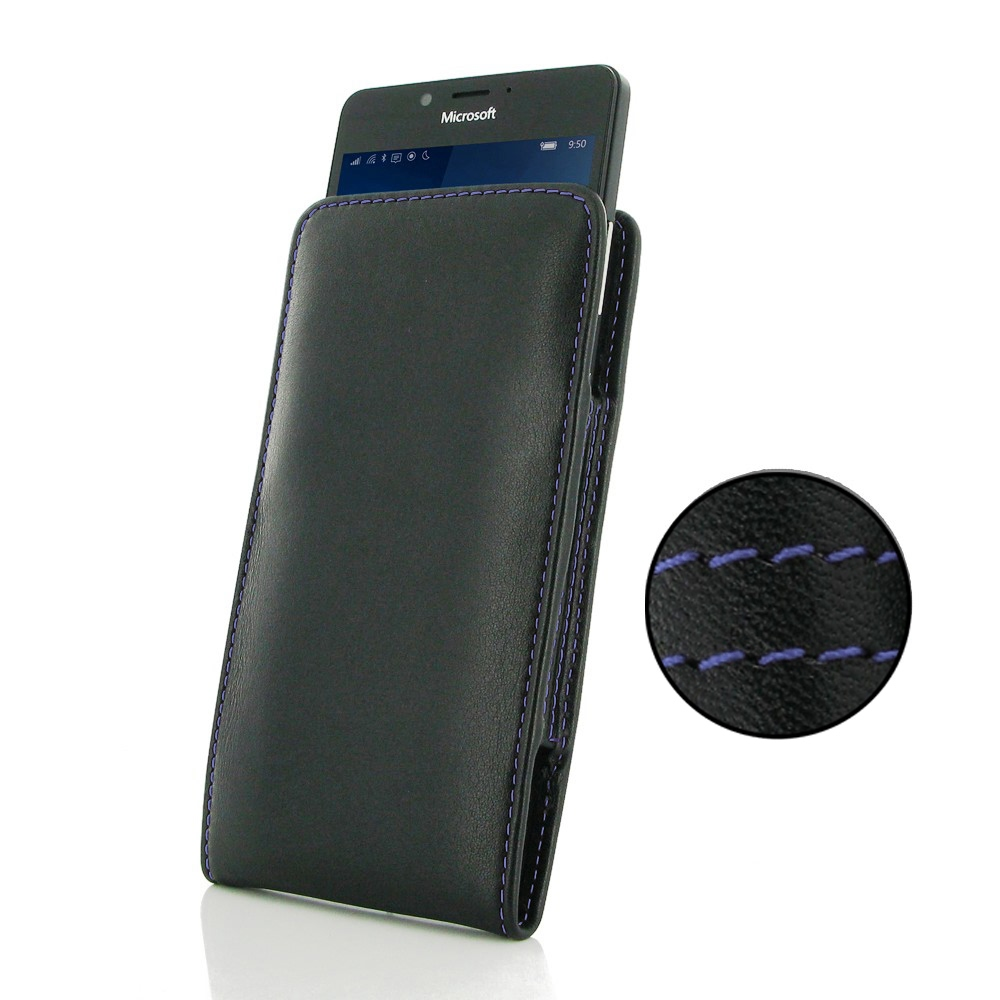 10% OFF + FREE SHIPPING, Buy Best PDair Quality Handmade Protective Microsoft Lumia 950 Leather Sleeve Pouch Case (Purple Stitch). Pouch Sleeve Holster Wallet You also can go to the customizer to create your own stylish leather case if looking for additio