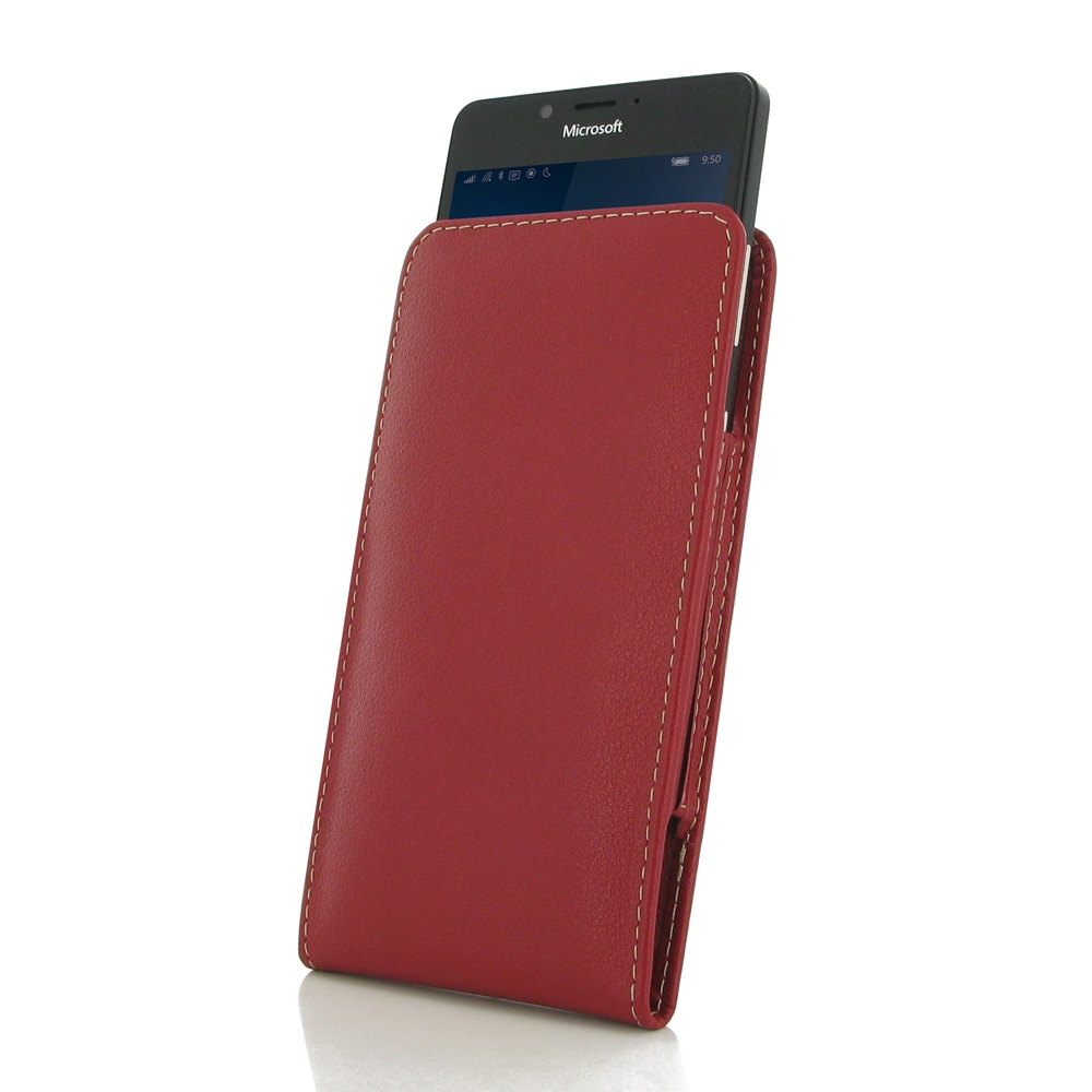 10% OFF + FREE SHIPPING, Buy Best PDair Top Quality Handmade Protective Microsoft Lumia 950 Leather Sleeve Pouch Case (Red). Pouch Sleeve Holster Wallet You also can go to the customizer to create your own stylish leather case if looking for additional co