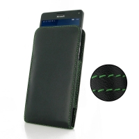 10% OFF + FREE SHIPPING, Buy Best PDair Quality Handmade Protective Microsoft Lumia 950 XL Leather Sleeve Pouch Case (Green Stitch). You also can go to the customizer to create your own stylish leather case if looking for additional colors, patterns and t
