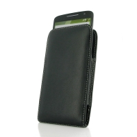 Leather Vertical Pouch Case for Motorola Moto X Play