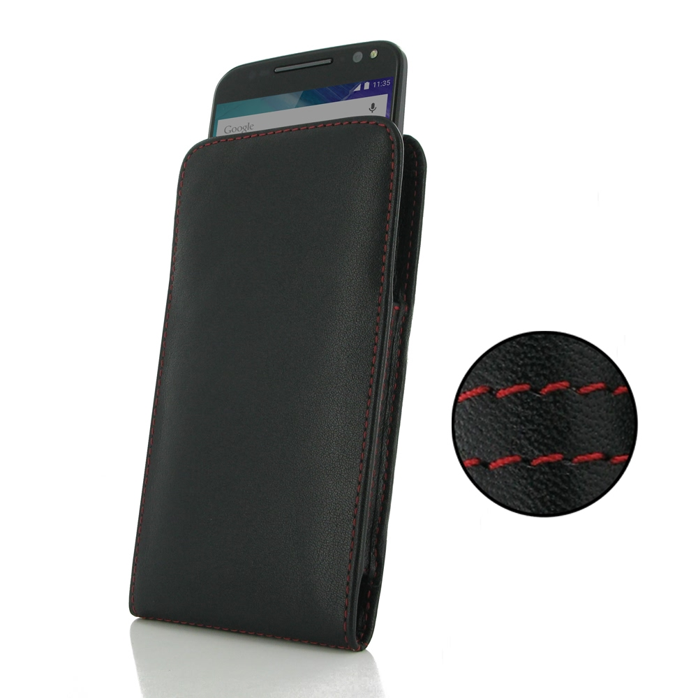 10% OFF + FREE SHIPPING, Buy PDair Quality Handmade Protective Moto X Style / Pure Edition Leather Sleeve Pouch Case (Red Stitch) online. You also can go to the customizer to create your own stylish leather case if looking for additional colors, patterns