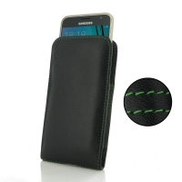10% OFF + FREE SHIPPING, Buy PDair Top Quality Handmade Protective Samsung Galaxy J3 Leather Sleeve Pouch Case (Green Stitch). Pouch Sleeve Holster Wallet You also can go to the customizer to create your own stylish leather case if looking for additional