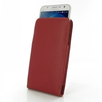 Leather Vertical Pouch Case for Samsung Galaxy J7 SM-J700F (Red)