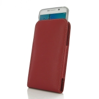 Leather Vertical Pouch Case for Samsung Galaxy Note 5 | Samsung Galaxy Note5 ( Compatible with 1.0 mm Slim Case / Cover on ) (Red)