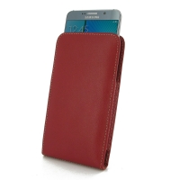 Leather Vertical Pouch Case for Samsung Galaxy Note 5 | Samsung Galaxy Note5 (Red)