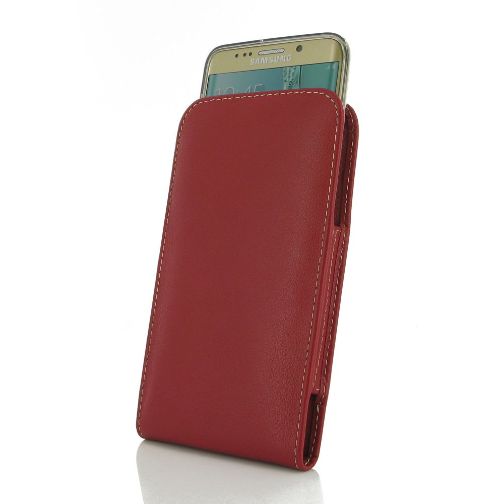 10% OFF + FREE SHIPPING, Buy Best PDair Quality Handmade Protective Samsung Galaxy S6 edge+ Plus (in Slim Cover) Pouch Case (Red). You also can go to the customizer to create your own stylish leather case if looking for additional colors, patterns and typ