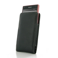 Leather Vertical Pouch Case for Sony Xperia Z5 Compact