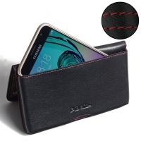 10% OFF + FREE SHIPPING, Buy PDair Top Quality Handmade Protective Samsung Galaxy J3 Leather Wallet Pouch Case (Red Stitch) online. You also can go to the customizer to create your own stylish leather case if looking for additional colors, patterns and ty