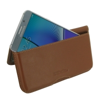 Leather Wallet Pouch for Samsung Galaxy Note 5 | Samsung Galaxy Note5 (Brown)