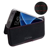10% OFF + FREE SHIPPING, Buy PDair Top Quality Handmade Protective Samsung Galaxy S7 Leather Wallet Pouch Case (Red Stitch) online. You also can go to the customizer to create your own stylish leather case if looking for additional colors, patterns and ty