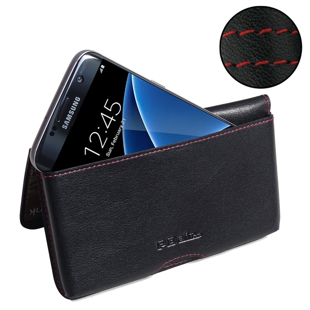 10% OFF + FREE SHIPPING, Buy Best PDair Quality Handmade Protective Samsung Galaxy S7 edge Leather Wallet Pouch Case (Red Stitch). Pouch Sleeve Holster Wallet You also can go to the customizer to create your own stylish leather case if looking for additio