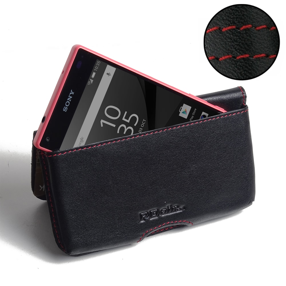10% OFF + FREE SHIPPING, Buy Best PDair Quality Handmade Protective Sony Xperia Z5 Compact Leather Wallet Pouch Case (Red Stitch). Pouch Sleeve Holster Wallet You also can go to the customizer to create your own stylish leather case if looking for additio