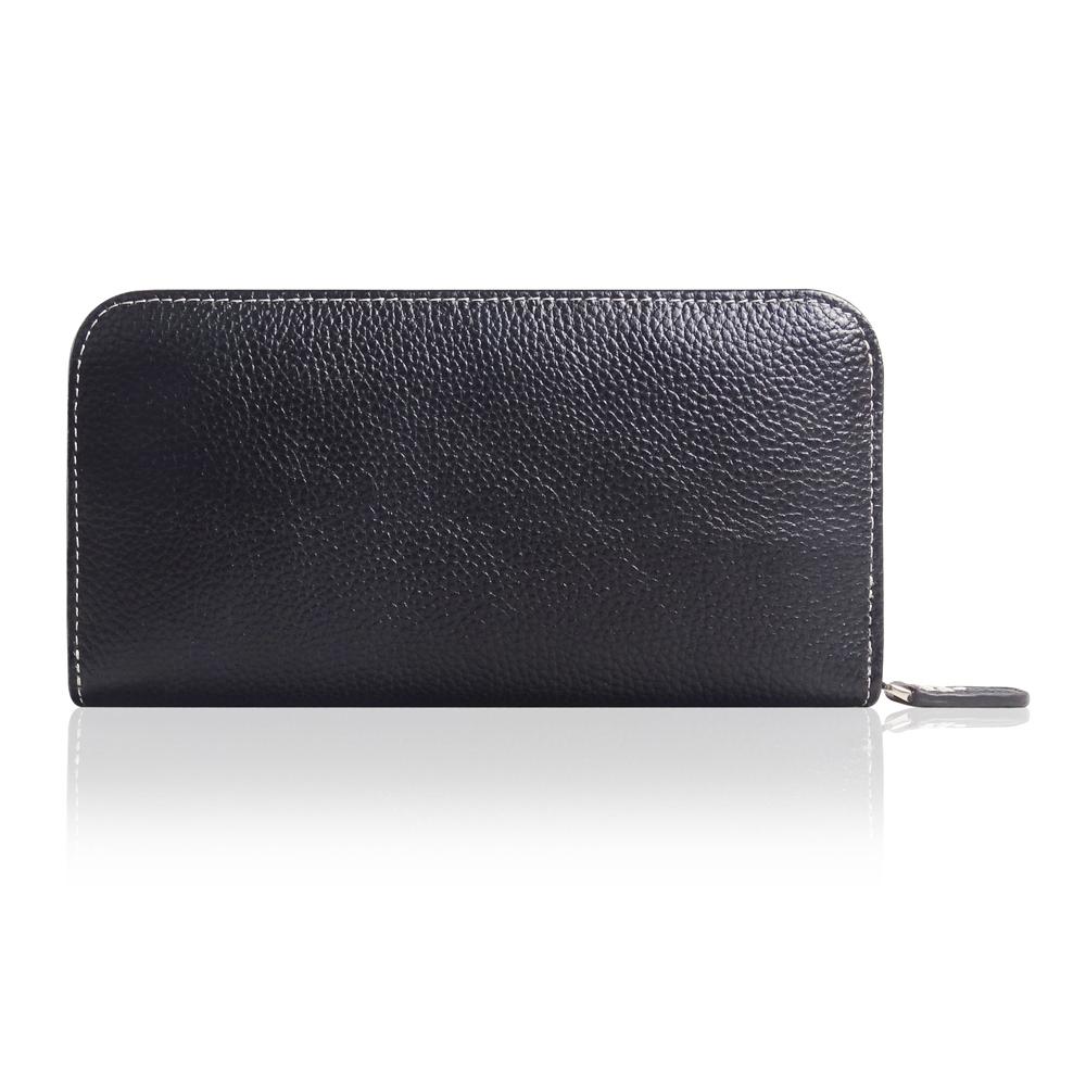 Leather Zip Around Wallet Smartphone Case (White Stitching) PDair custodia in vera pelle Premium fatto a mano protettiva Cassa del telefono trasporto