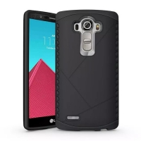 Hybrid Combo Aegis Armor Case Cover for LG G4 H815 (Black)