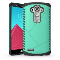 Hybrid Combo Aegis Armor Case Cover for LG G4 H815 (Green)
